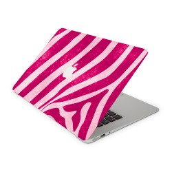 Mac Book Air 13 Design Aufkleber - Pink Zebra