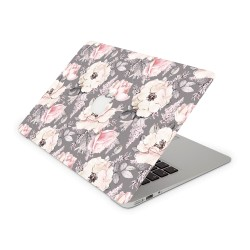 Mac Book Air 13 Design Aufkleber - Flower Grey