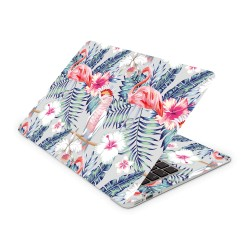 Mac Book Air 13 Design Aufkleber - Flamingo Flower