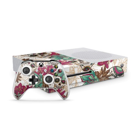XBOX ONE S Bundle- Skull Flower White Skin von EpicSkin