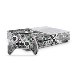 XBOX ONE S Bundle- Stickerbomb BW Skin von EpicSkin