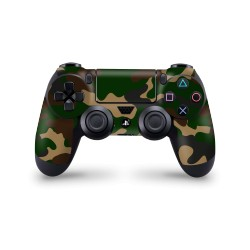 PS4 Controller Skin - Design Aufkleber Camouflage Green