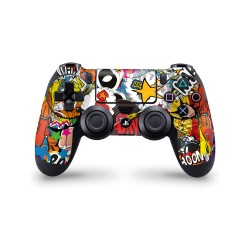 Sony Playstation 4 Controller - Stickerbomb Color Skin von EpicSkin