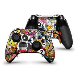 Skin XBOX ONE Elite  Controller - Stickerbomb Color