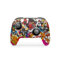 Nintendo Switch Pro Controller Skin - Design Aufkleber Stickerbomb Color
