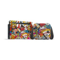 Skin Nintendo Switch - Stickerbomb Color