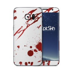 Galaxy S7 Edge Skin Zombie Blood White