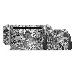 Skin Nintendo Switch - Stickerbomb BW