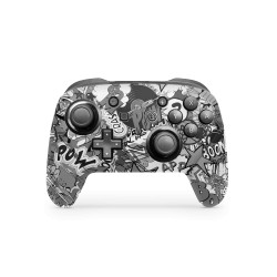 Skin Nintendo Switch Pro Controller - Stickerbomb BW