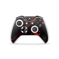 XBOX ONE S Controller - Blood Black Design Aufkleber von EpicSkin