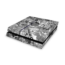 Sony Playstation 4 Skin - Stickerbomb BW Design Aufkleber von Epic Skin