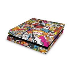 Sony Playstation 4 Skin - Stickerbomb Color Design Aufkleber von Epic Skin
