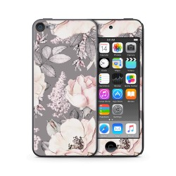 Flower Grey Design Folien für Smartphones für Apple IPod Touch 6 von Epic Skin