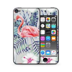 Flamingo Flower Design Folien für Smartphones für Apple IPod Touch 6 von Epic Skin