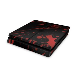 Sony Playstation 4 Slim Skin - Blood Black Design Aufkleber von EpicSkin