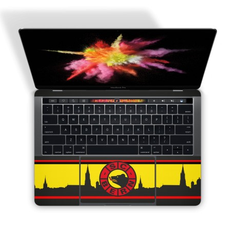 Mac Book Pro 15 Touch Bar Tastatur Skin - SCB Fan Design Aufkleber von Epic Skin