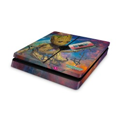 PS4 Slim Skin - Marvel Design Aufkleber Guardiens of the Galaxy _ I am Groot