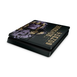 PS4 Slim Skin - Marvel Design Aufkleber Avengers -Thanos