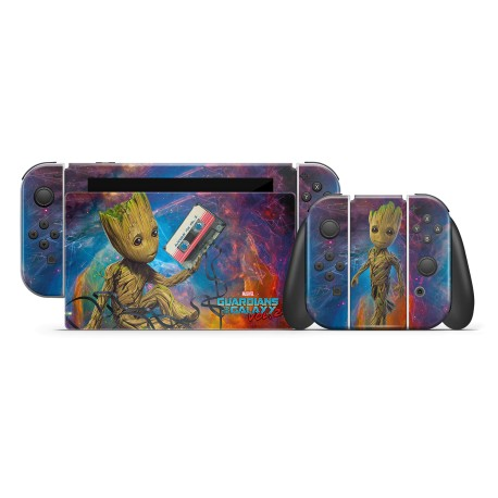 Nintendo Switch Skin - Marvel Design Aufkleber Guardiens of the Galaxy - I am Groot