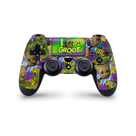 PS4 Controller Skin - Marvel Design Aufkleber Guardiens of the Galaxy - Groot Pattern