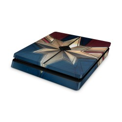 PS4 Slim Skin - Marve lDeisgn Aufkleber Captain Marvel - Captain Marvel
