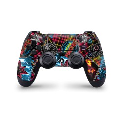 PS4 Controller Skin - Marvel Design Aufkleber Captain Marvel - 90s Pattern