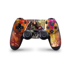 PS4 Controller Skin - Marvel Design Aufkleber Avengers Endgame - Red Attack